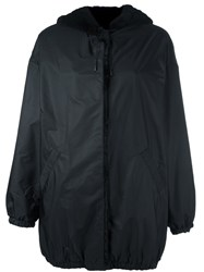 Simonetta Ravizza Fur Lined Hooded Raincoat Black