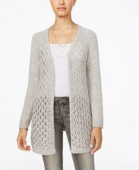 American Rag Juniors' Open Knit Lace Up Cardigan Only At Macy's Grey
