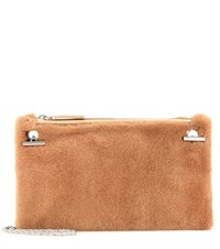The Row Party Time 7 Fur Shoulder Bag Brown