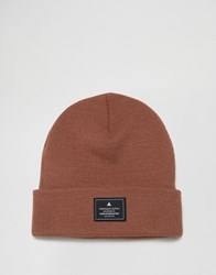Asos Patch Beanie In Dusky Pink Dusky Pink