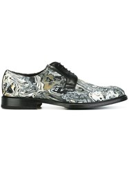Pollini Lava Print Derby Shoes