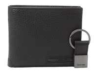 Calvin Klein Pebble Billfold With Money Clip And Key Fob Black Bill Fold Wallet