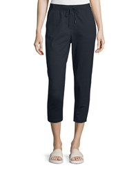 Elie Tahari Callum Drawstring Waist Cropped Pants Women's Black
