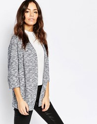 New Look 3 4 Length Sleeve Knitted Marl Blazer Blue