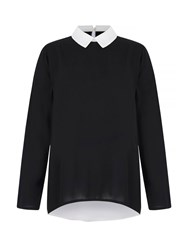 Mela Loves London Collar Shirt Jumper Black
