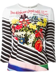 Mary Katrantzou Flower Bouquet Print Top White
