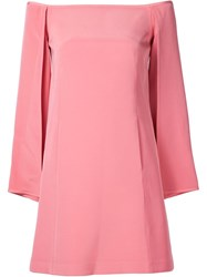 Kaufman Franco Kaufmanfranco Off Shoulder Shift Dress Pink And Purple