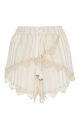 Tryb212 Lea Scallop Lace Shorts White