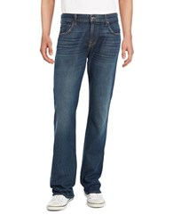 7 For All Mankind Bootcut Stretch Jeans Dark Wash Blue
