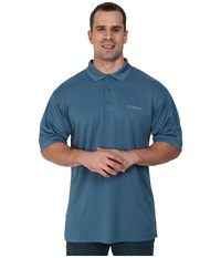 Columbia Perfect Cast Polo Extended Blue Heron Men's Clothing