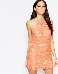 Oh My Love Lace Mini Dress With Open Back Pink