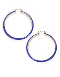 Trina Turk Multi Colored Hoop Earrings Blue