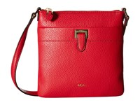Lauren Ralph Lauren Carlisle Ayla Flat Crossbody Red Cross Body Handbags