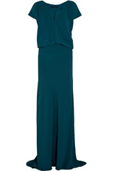 Maria Grachvogel Elune Draped Crepe Gown