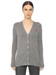 Mcq By Alexander Mcqueen Swallow Embroidered Wool Blend Cardigan