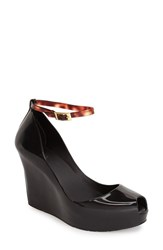 Women's Melissa 'Patchuli X' Ankle Strap Peep Toe Wedge 3' Heel