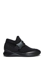 Christopher Kane High Top Studded Neoprene Sneakers Black