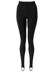Miss Selfridge Rib Stirrup Leggings Black