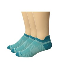 Wrightsock Cool Mesh Ii 3 Pack Seamist Turquoise Crew Cut Socks Shoes Blue
