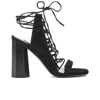 Senso Women's Niala Iv Lace Front Heeled Sandals Ebony