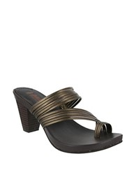 Mia Virgo Leather Toe Ring Sandals Bronze