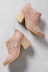Anthropologie Jeffrey Campbell Malvolio Layered Booties Taupe