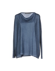 Superfine Topwear T Shirts Women Slate Blue