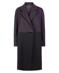Jaeger Boiled Wool Mix Coat Navy