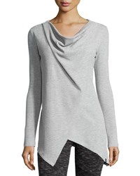 Marc New York Marc Ny Performance Asymmetric Thermal Tunic Lt Grey He