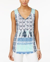Styleandco. Style And Co. Embroidered Peasant Top Only At Macy's Poncho Perfect