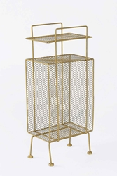 Gold Mini Storage Rack Urban Outfitters