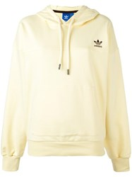 Adidas Logo Embroidered Hoodie Yellow Orange