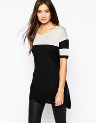 Sisley Knitted Top With Glitter And Varsity Stripes Black