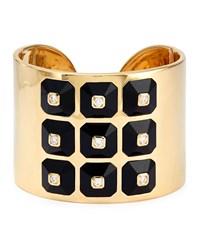 18K Pyramide Collection Onyx And Diamond Cuff Maria Canale For Forevermark Black