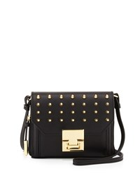 Ivanka Trump Hopewell Leather Crossbody Bag Black