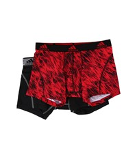 Adidas Sport Performance Climalite Graphic 2 Pack Trunk Real Red Draven Black Grey Men's Underwear