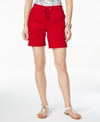 Styleandco. Style And Co. Active Drawstring Shorts Only At Macy's New Red Amore