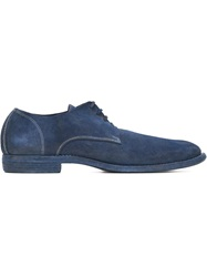 Guidi Paneled Lace Up Shoes Blue