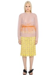 Emilio Pucci Logo Embroidered Double Tulle Sweatshirt