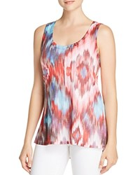 Nally And Millie Abstract Ikat Print Tank Red Multi