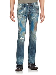 Cult Of Individuality Straight Fit Distressed Jeans Artist