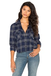Black Orchid Plaid Button Up Blue