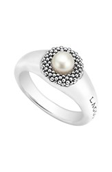 Women's Lagos 'Luna' Small Pearl Ring