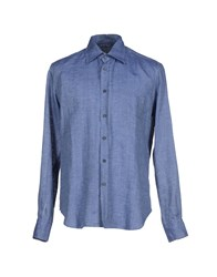 Ermanno Scervino Shirts Shirts Men Blue