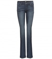 Paige Manhattan Mid Rise Slim Boot Cut Jeans Blue