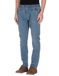 Galliano Casual Pants Slate Blue