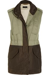 Rag And Bone Kinsley Cotton Twill Gilet Army Green