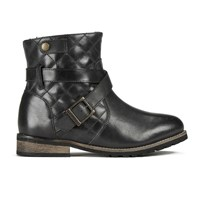 Barbour International Women's Hetton Quilted Leather Biker Boots Black