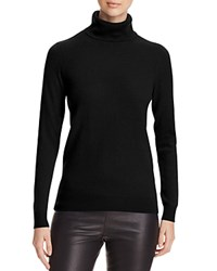 Bloomingdale's C By Cashmere Turtleneck Sweater Black