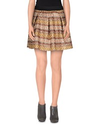 Odi Et Amo Skirts Mini Skirts Women Brown
